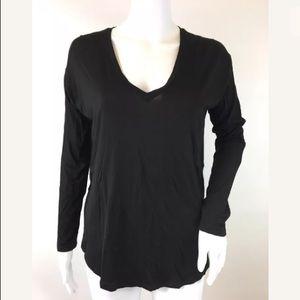 Madewell Side slits Basic Black Top Size XS